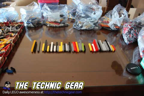 how to sort LEGO Technic parts