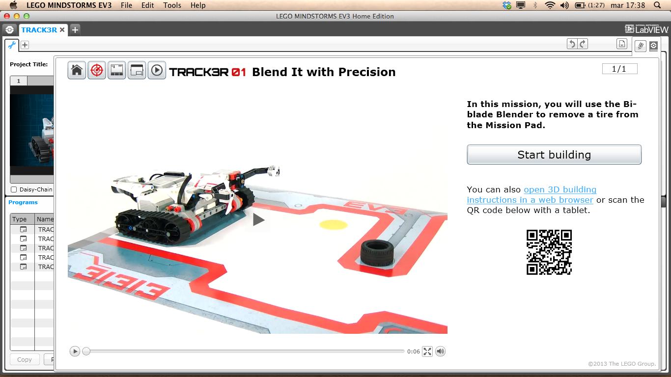 LEGO Mindstorms EV3 Track3r Mission 1