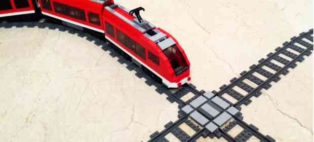 How To Make LEGO Train X-Cross Track