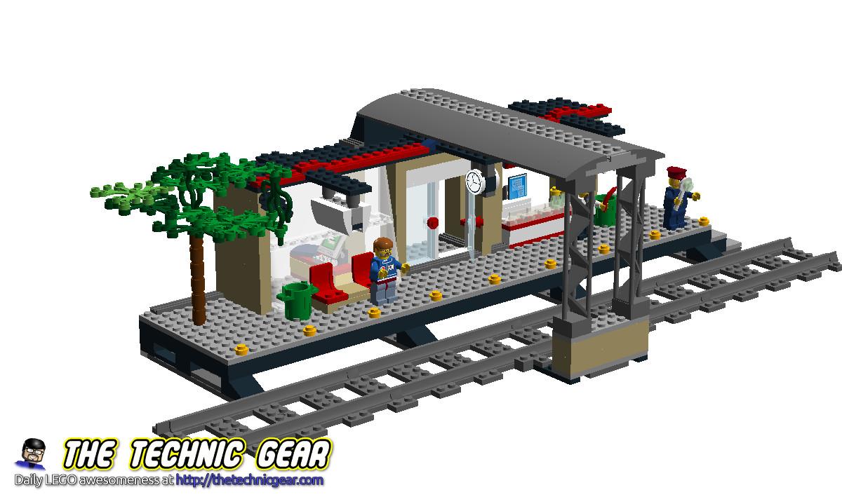 Moc Lego City 60050 Train Station Lego Reviews Videos