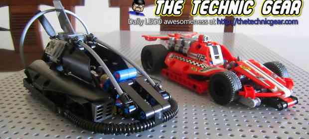 Just done - LEGO Race Car and Hovercraft
