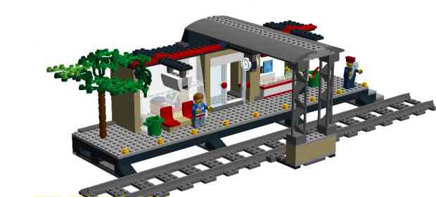 MOC LEGO City 60050 Train Station